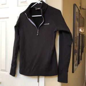 Quarter Zip Black Avalanche Pullover